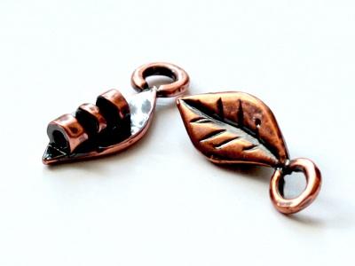 Миниатюрный концевик цвта античной меди на шнур от 1.3 до 1.4 мм. для изготовления украшений.