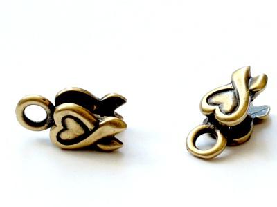 Миниатюрный концевик цвета античной латуни на шнур от 1.0 до 1.2 мм. для изготовления украшений.