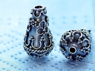 Конус серебряный ручной работы, используется для создания украшений Handmade: серьги, бусы, браслеты и др
