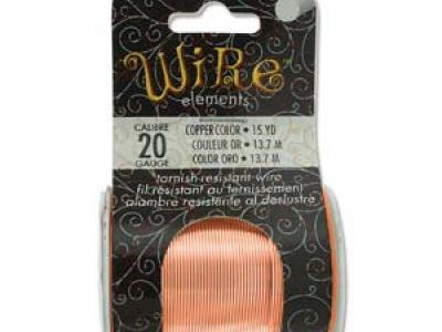 Проволока полужесткая Craft Wire Tarnish resistante для творческих работ, проволока медная отлакированная-нетускнеющая