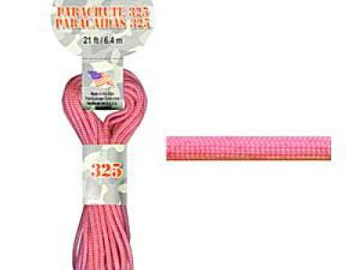 Паракорд, шнур Para Cord 550 Pink, цвет розовый, толщина 3 мм., длина 6.4 метра (на 3 стандартных браслета)