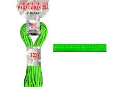 Паракорд, шнур Para Cord 325 Neon Green цвет ярко-зеленый, толщина 3 мм., длина 6,4 метра